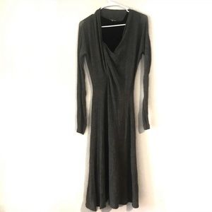 Max Mara Gray Long Sleeve Career Dress